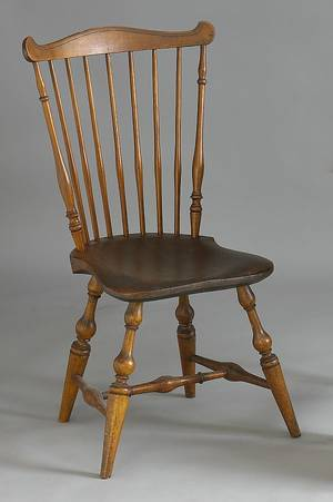 New England fanback windsor side chair ca 1790