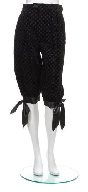 An Yves Saint Laurent Black Velvet Knicker