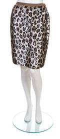 A Bill Blass Animal Print Sequin Skirt