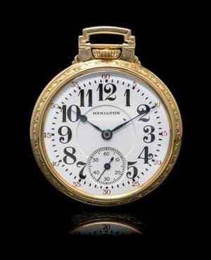 A Collection of Gold Filled Open Face Pocket Watches Hamilton and South Bend