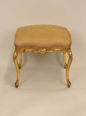 L 19th CE 20th C Gilt Framed Stool