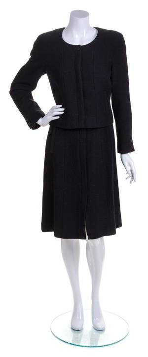 A Chanel Black Skirt Suit