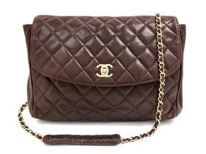 A Chanel Brown Quilted Leather Flap Handbag