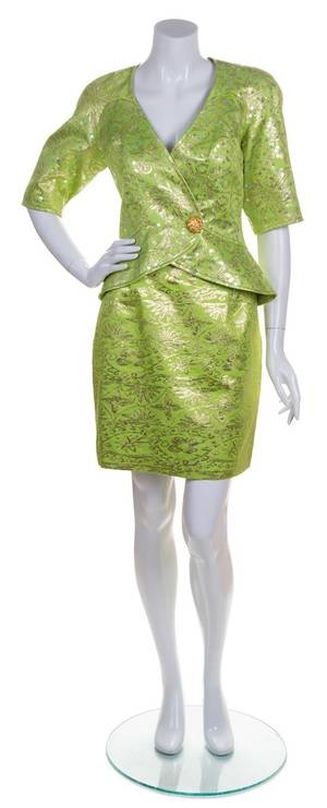 A Christian Lacroix Lime Cocktail Suit