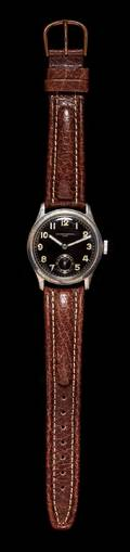 A German Army WWII Steel Wristwatch Record Watch Co