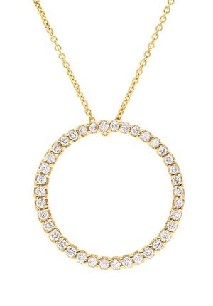 An 18 Karat Yellow Gold and Diamond Circle Pendant Roberto Coin