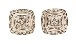 A Collection of Sterling Silver and Diamond Earrings David Yurman