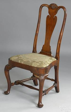 Newport Rhode Island Queen Anne walnut dining chair ca 1750