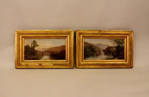 A Pair of Early 20th C Framed Landscape Paintings