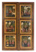 A Pair of Indian Painted Doors