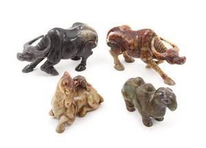 A Group of Four Hardstone Figures of Animals