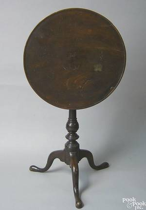 Pennsylvania Queen Anne walnut candlestand ca 1760