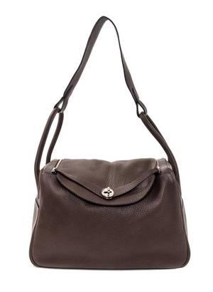 An Hermes Cafe Taurillon Clemence Lindy 34 Handbag