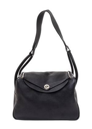 An Hermes Graphite Taurillon Clemence Lindy 34 Handbag