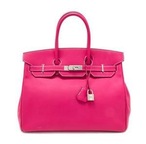 An Hermes Rose Tyrien Candy 35cm Birkin Handbag