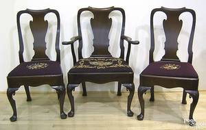 Set of 6 Irish Queen Anne mahogany dining chairs ca 1740