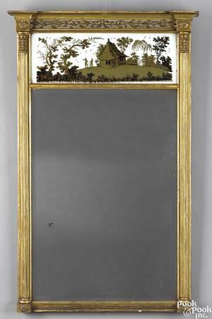 Federal giltwood mirror ca 1810