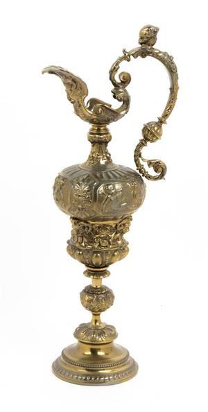 A Continental Brass Ewer