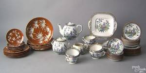 Fiftyone pcs of porcelain to include 38 pcs of chinoiserie decorated ironstone and 13 pcs of Chinese porcelain plates