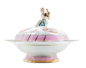 A Berlin KPM Porcelain Covered Bowl