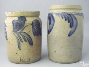 Remmey stoneware crock 19th c