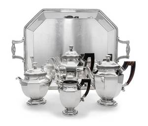 A French SilverPlate Tea and Coffee Service