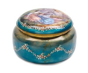 A French Enameled Copper Box