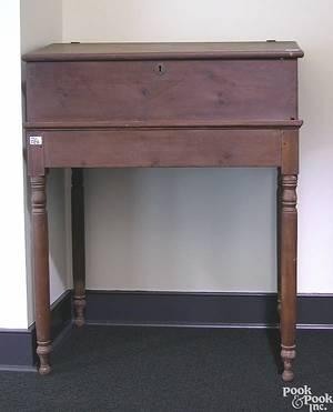 Pennsylvania Sheraton pine schoolmasters desk