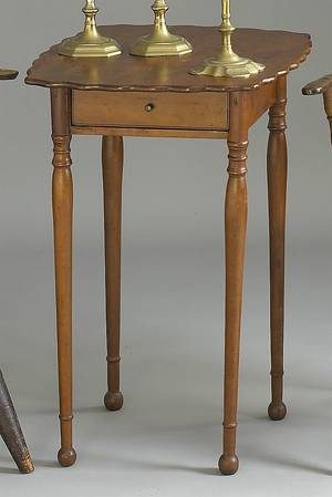 New Hampshire Sheraton cherry onedrawer stand ca 1810