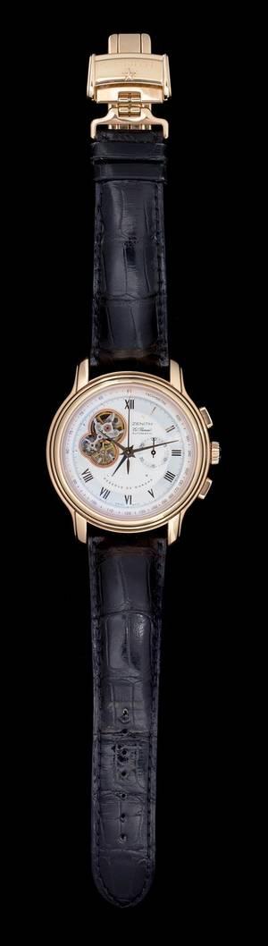 An 18 Karat Rose Gold El Primero ChronoMaster Wristwatch with Power Reserve Zenith