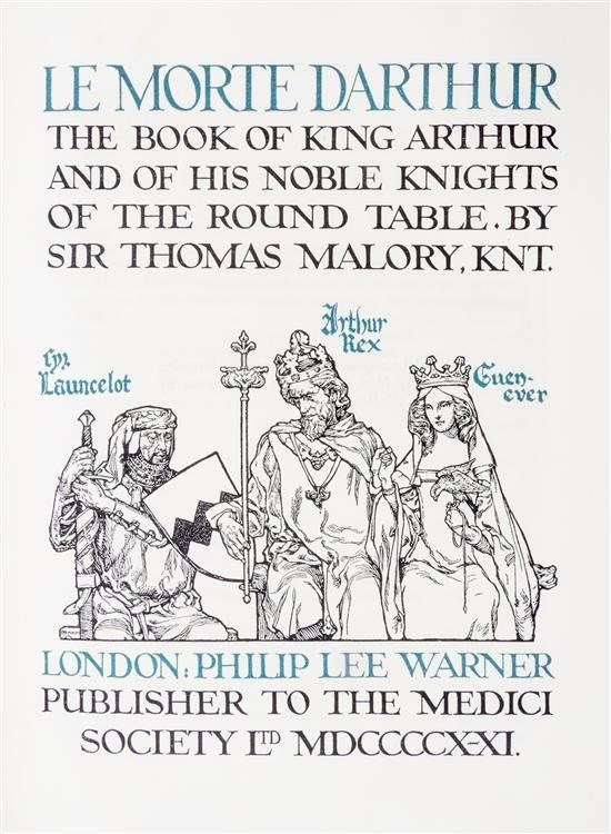 an overview of the once and future king collective work by t h white on sir thomas malorys morte dar Reading an excerpt from the once and future king helps one death-of-king-arthur-thomas-malorys-le-morte-darthur _blankth white- mini.
