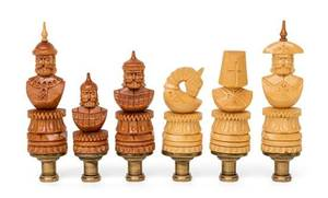 A Collection of Six Lamp Finials