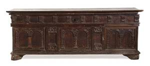 A Continental Carved Cassone