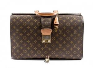 Vintage Louis Vuitton Serviette Fermoir Briefcase