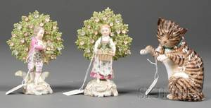 Three Small Porcelain Figures