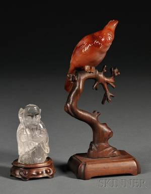 Two Small Asian Carved Stone Figures