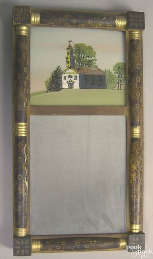 Late Federal painted mirror ca 1825