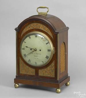 Philadelphia Federal mahogany bracket clock ca 1810