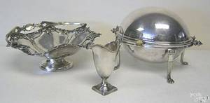 Silver plate to include handled basket