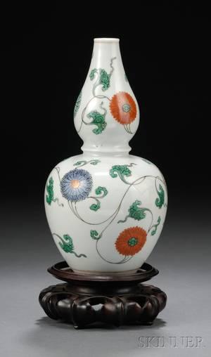 Famille Verte DoubleGourd Vase