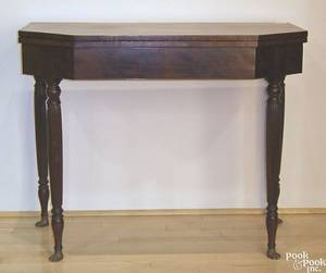 New York Federal mahogany card table ca 1810