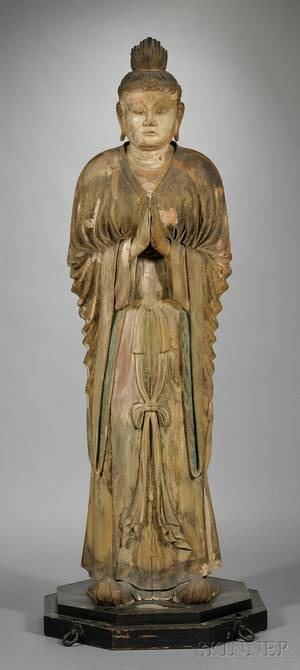 LifeSize Carved Wood Statue of Bonten