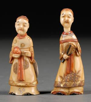 Pair of Marine Ivory Carvings