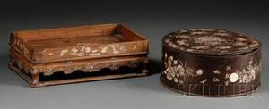 MotherofPearl Inlaid Box and Tray
