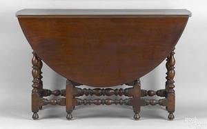 Pennsylvania William  Mary mahogany gateleg table ca 1730