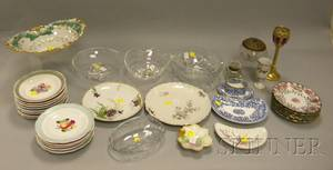Group of Assorted Porcelain and Glass Table Items