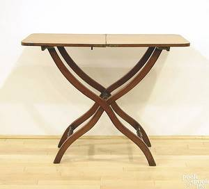 English mahogany folding table