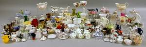 Large Collection of Mostly Miniature and Small Ceramic Jugs Teaware and Table Items