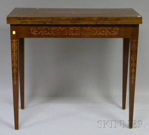 Italian Neoclassical Inlaid Mahogany Games Table