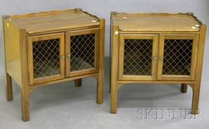 Pair of Davis Georgianstyle Mahogany End Tables